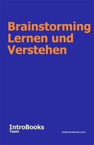 Brainstorming Lernen und Verstehen