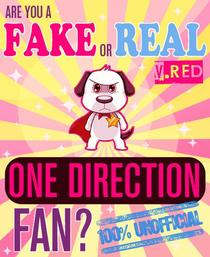 Are You a Fake or Real One Direction Fan? Red Version - The 100% Unofficial Quiz and Facts Trivia Travel Set Game
