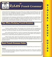 Rules In French Grammar ( Blokehead Easy Study Guide)