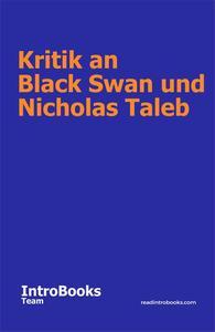 Kritik an Black Swan und Nicholas Taleb