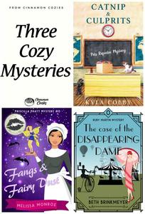 Three Cozy Mysteries: Catnip & Culprits, Fangs & Fairy Dust, and The Case of the Disappearing Dame (Women Sleuths, Culinary Cozy Mysteries & Paranormal Mystery)