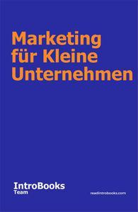 Marketing für Kleine Unternehmen