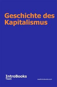 Geschichte des Kapitalismus