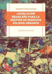 Legislación brasileña para la gestión de residuos sólidos urbanos