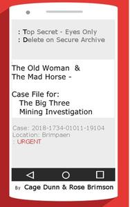 The Old Woman & the Mad Horse - Case File for: The Big Three Mining Investigation
